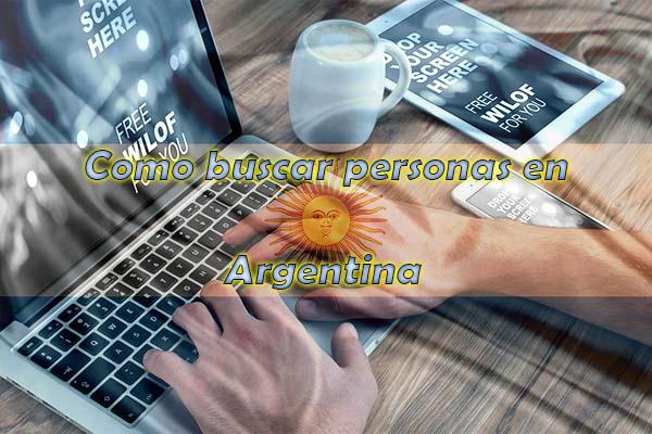 Como buscar personas en argentina internet laptop 2017