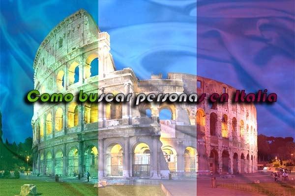 como buscar personas en Italia busqueda formas maneras 2017 españa sitios internet registros dni internet